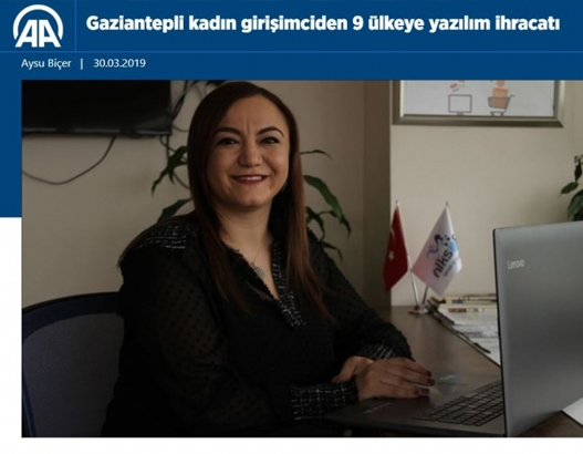 Gaziantepli Kadın Girişimciden 9 Ülkeye Yazılım İhracatı