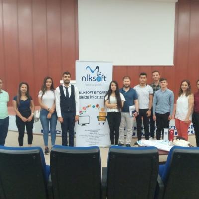 Gaziantep Üniversitesi Naci Topçuoğlu Meslek Yüksekokulu'nda Merhaba   E-ticaret Eğitimi