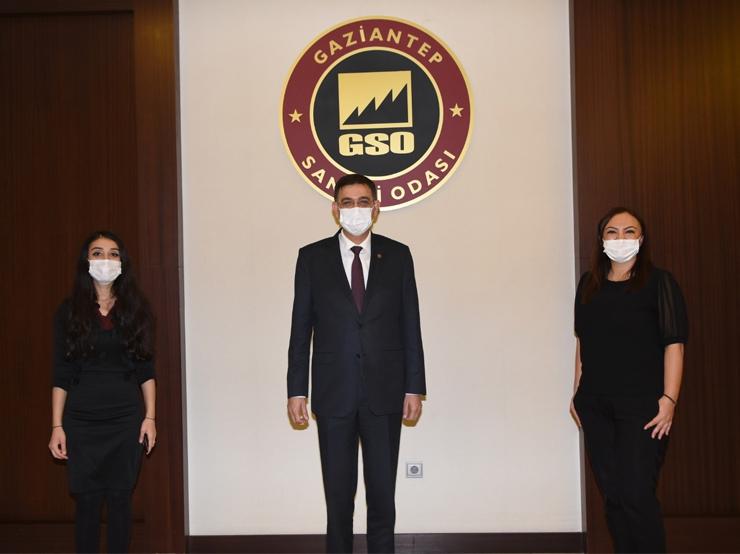Yönetim Kurulu Başkanımız Nalan Kurt Gaziantep Sanayi Odası Başkanı Sayın Adnan Ünverdi'yi ziyaret etti.