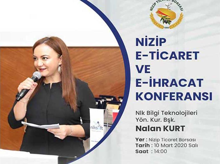 Nizip Ticaret Borsasında E-Ticaret ve E- İhracat Semineri Yapılacak !